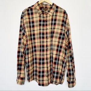 Vintage Marine Bay Plaid Flannel Button Down Shirt